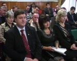 На передньому плані — новообрані Вадим Туманов, Валентина Явтенко і Людмила Гетьманець