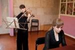 Марина Баранник (скрипка) та Олена Василенко (фортепіано)