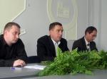"""Зліва направо: Р. Реут, начальник теплоінспекції, О. Сич, головний інженер, Р. Петров, заступник гендиректора СП ТОВ """"Світловодськпобут"""""""