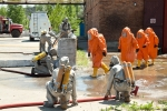 Наслідки умовного терористичного акту на хімічно-небезпечному об'єкті ліквідували за 15 хвилин