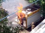 Пожежа у торгівельному ларьку