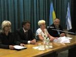 Президія (зліва направо: Л. Гетманець, С. Яременко, З. Климчук, Ю. Котенко)