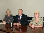Людмила Гетманець, Юрій Котенко, Зінаїда Климчук під час прес-конференції