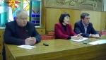 У президії Юрій Котенко, його заступник з питань ЖКГ Олександр Сич, а між ними Надія Мальцева