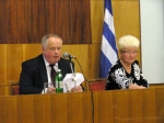 І пані Климчук зайняла своє почесне та відповідальне місце у президії поряд з міським головою Котенком