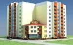 План 72-квартирного будинку з прибудованим приміщенням по вул. Павлова (між будинками №8, №16, №18) у Світловодську