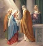 15 лютого – Стрiтення. У цей день Церква святкує зустрiч Богомладенця Христа i святого Симiона
