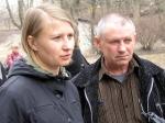 Василь Сурмило та його адвокатеса Наталя Старікова (фото квітень 2010 року)