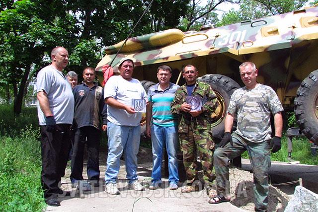 На вулиці Бойка в пам'ять про загиблих воїнів-інтернаціоналістів встановлено БТР-80