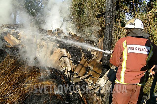 В одному з домоволодінь села Озера згоріло сіно і солома, житловий будинок вдалося врятувати