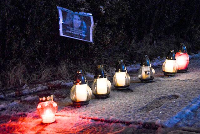ФОТОФАКТ: Молодь Світловодська вшанувала пам'ять Кузьми Скрябіна