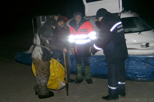 Світловодський район: врятовано рибалку, який не міг дістатися до берега