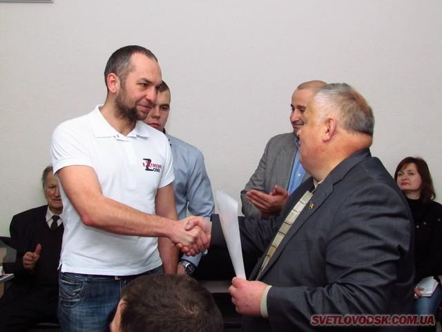 Спортсмени та їхні наставники приймали вітання від міського голови