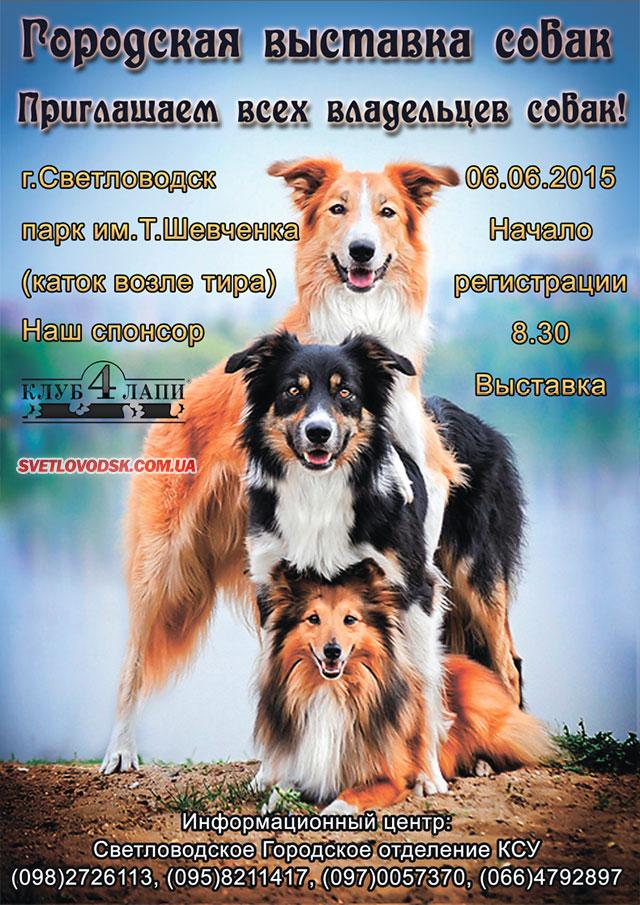 У Світловодську відбудеться виставка собак