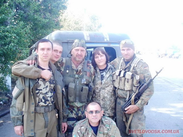 Світловодські волонтери Дарія Ільїна та Сергій Волков відвезли черговий вантаж в зону АТО