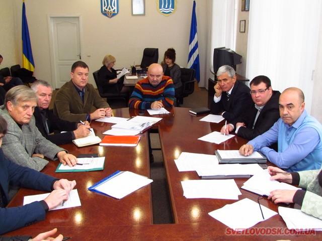 Відбулося перше засідання новообраного виконкому Світловодської міської ради