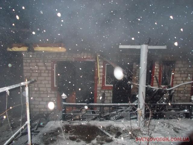 Дві пожежі сталися у Світловодську на різдвяні свята