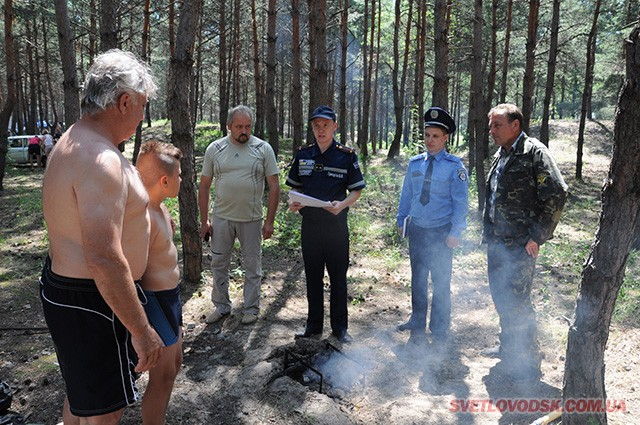 Рятувальники піклуються про захист лісових насаджень від вогню
