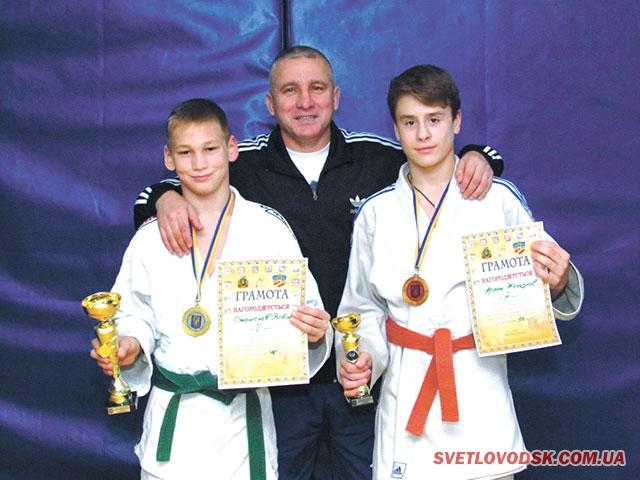 На Всеукраїнському турнірі дзюдоїсти Світловодська вибороли золото і бронзу