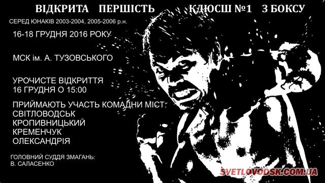АФІША: Відкрита першість КДЮСШ №1 з боксу