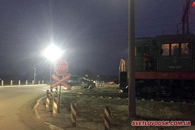 ДТП на Власівському переїзді — немов «зачарований» водій ВАЗ 2111 виїхав на рейки перед локомотивом
