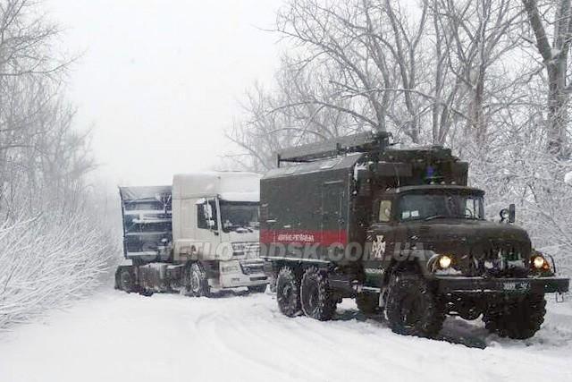 Увага! По всій області обмежено рух вантажного та пасажирського транспорту!