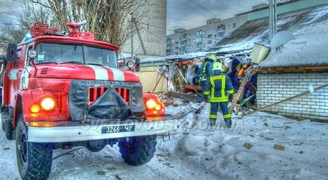 У Світловодську рятувальники загасили пожежу лазні, що виникла через вибух твердопаливного котла