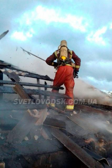 Вогнеборці загасили пожежу на території приватного домоволодіння у Світловодську