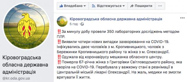 Померла 67-річна жінка з Григорівки. Та чи від COVID-19?