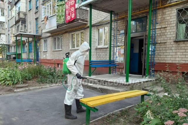 Світловодські рятувальники надають допомогу по здійсненню дезінфекційних заходів