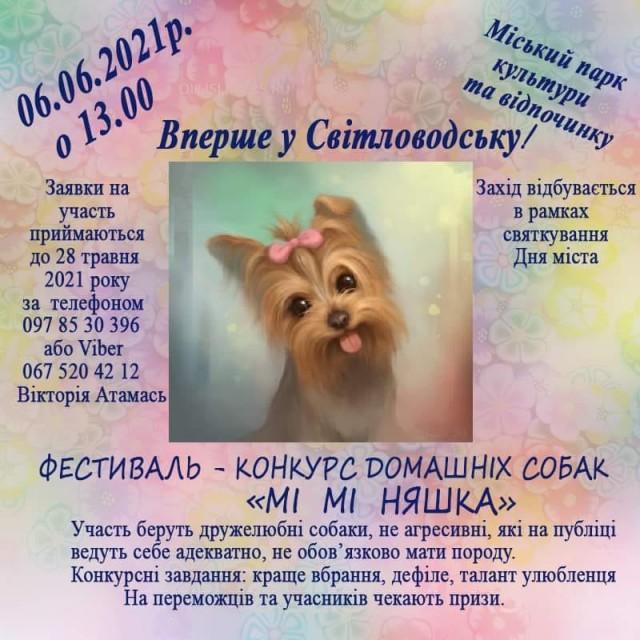 """Фестиваль-конкурс домашніх собак """"Мі мі няшка"""""""